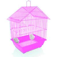 Gaiola Pássaros American Pets (rosa / Casinha)