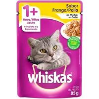 Ração Úmida Whiskas Sachê Frango ao Molho para Gatos Adultos (85 g)