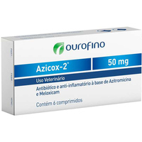 Antibiótico e Anti-inflamatório Ourofino Azicox 2 de 50 mg (Unidades :01)