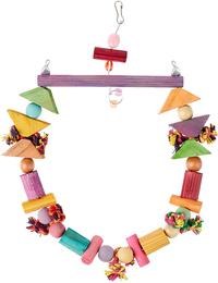 Brinquedo Papagaio Balanço Invertido Para Pássaros (colorido)