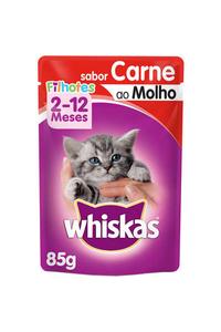 racao-umida-whiskas-sache-carne-ao-molho-para-gatos-filhotes-85-g