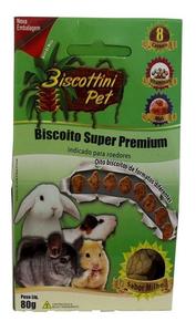 Biscoito Super Premium Biscottini Pet Indicado Para Roedores (80 g / Sabor: Milho)