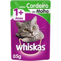 Ração Úmida Whiskas Sachê Cordeiro ao Molho para Gatos Adultos (85 g)
