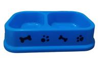 Comedouro Duplo (azul claro / Capacidade: 590 ml)