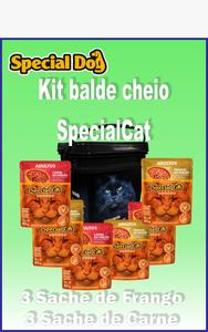 kit Balde de Cheio Special Cat (balde preto)