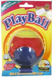 Brinquedo Play Ball com Clip para Cinto e Calça (azul/colorido)