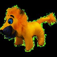Brinquedo Mordedor Pelúcia Lion Premium (laranja)