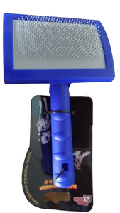 Rasqueadeira Plastico Grande (azul escuro)
