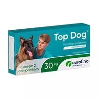 Vermifugo Ourofino Top Dog para Cães de até 30 Kg (2 comprimidos)