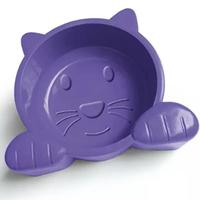 Comedouro Cat Face (lilás / Capacidade: 600 g)
