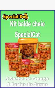kit Balde  de Cheio Special Cat  (balde amarelo )