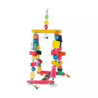 Brinquedo Happy Bird Balanço Gangorra para Pássaros (colorido)