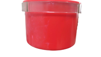Caneca Plástica com Alça (vermelho/azul / 190 ml)