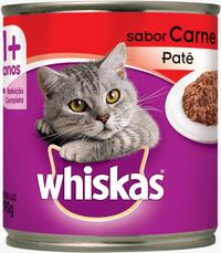 Whiskas Lata Adulto Patê Sabor Carne (290 g / Sabor: Carne)