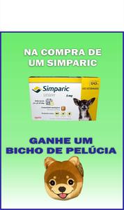 Antipulgas Zoetis Simparic para Cães 1,3 a 2,5 Kg      (5 mg caixa)   03 comprimidos    +    Brinde