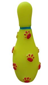Brinquedo Mordedor Mini Garrafa com Apito (amarelo / Medio)