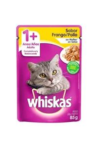 racao-umida-whiskas-sache-frango-ao-molho-para-gatos-adultos-85-g