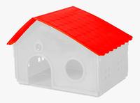 Casinha Para Hamster e Beija flor Com Telhado Colorido (branco/vermelho)