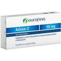 Antibiótico e Anti-inflamatório Ourofino Azicox 2 de 6 Comprimidos - 50 mg