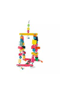 brinquedo-happy-bird-balanco-gangorra-para-passaros-colorido