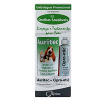 Kit Orelhas Saudáveis Syntec Limpeza e Tratamento Para Cães (100ml+15g)
