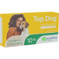 Vermifugo Ourofino Top Dog para Cães de até 10 Kg (4 comprimidos)