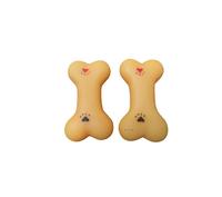 Brinquedo Mordedor Mini Osso 2 Unidades com Apito (laranja / Pequeno)