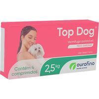 Vermifugo Ourofino Top Dog para Cães de até 2.5 Kg (4 comprimidos)