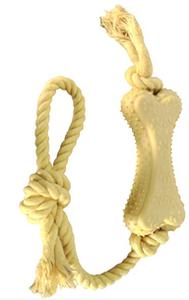 Brinquedo Dog Corda Osso (amarelo / Medio)