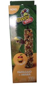 Bastão P/ Papagaio e  Arara com Frutas  C/ 2 Un (200g)