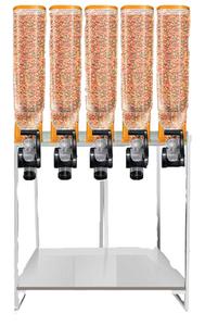 Dispenser de Ração Cor laranja  Altura: 1,70mX0,90m Largura e 5  Lugares