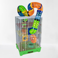 Gaiola Playgound para Hamster (verde / Coloridos)