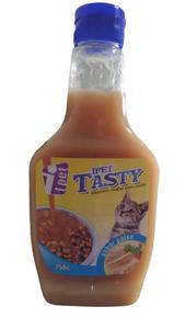 Molho Especial para Ração  Tasty Carne para Gatos (Sabor: Peixe / 250 g)