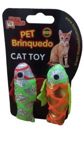 Brinquedo Mordedor Peixe Real Fish Pequeno com 02 unidades (colorido)