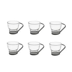 jogo-6-xicaras-de-vidro-pcafe-chaste-de-metal-duna